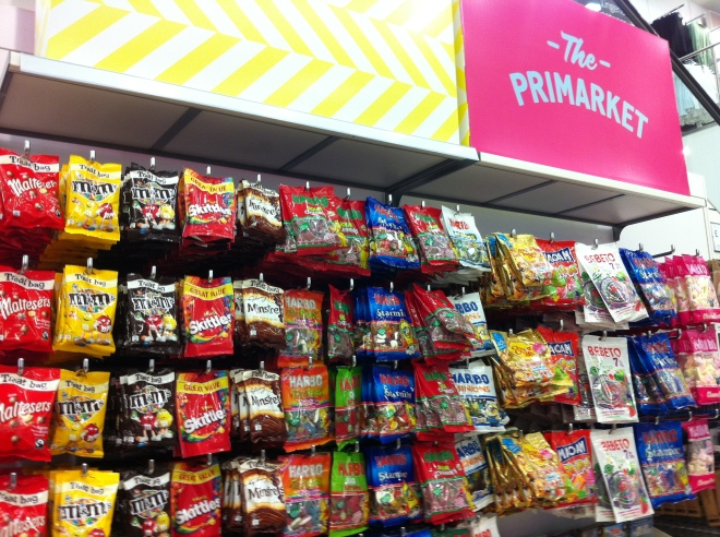 Candies and chocolates in Primark