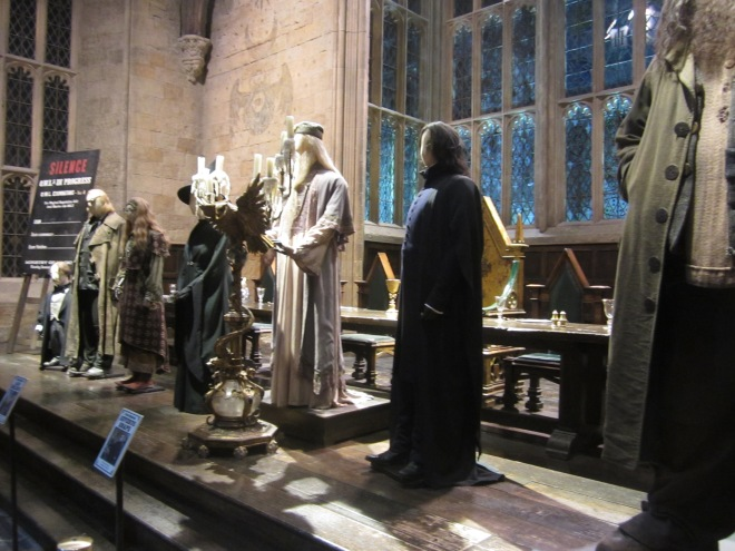 Costumes on display at the Harry Potter Studio Tour