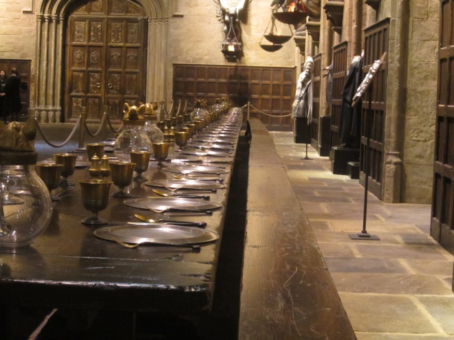 The Great Hall in Harry Potter at the Studio Tour