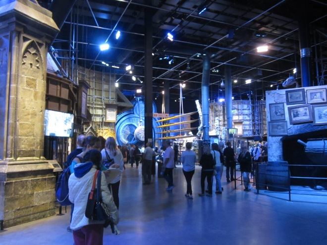 Sets on display at the Harry Potter Studio Tour