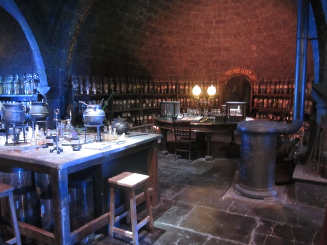 Potions and cauldrons at the Harry Potter Studio Tour