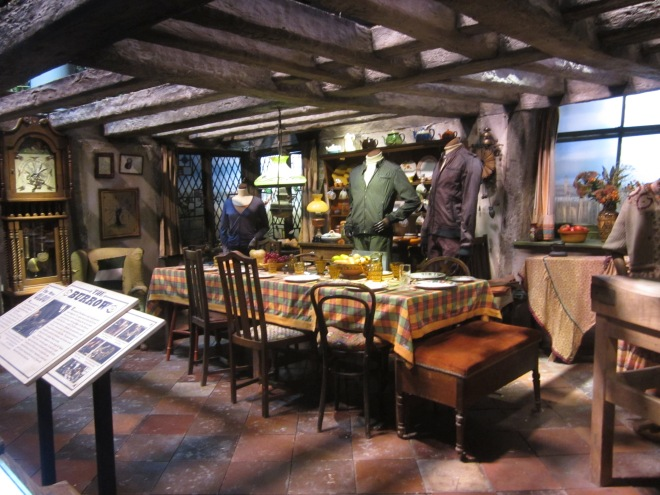 The Burrow at the Harry Potter Studio Tour at Warner Brothers Leavesden