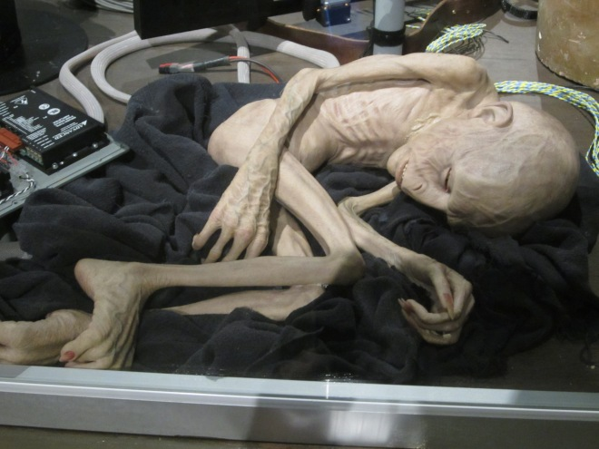 A dying Voldemort in the Harry Potter Studio tour in England