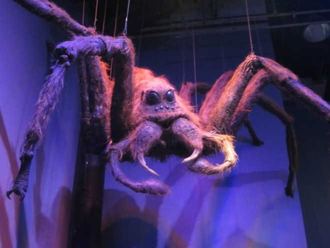 A giant spider on the Harry Potter Studio Tour in Watford England