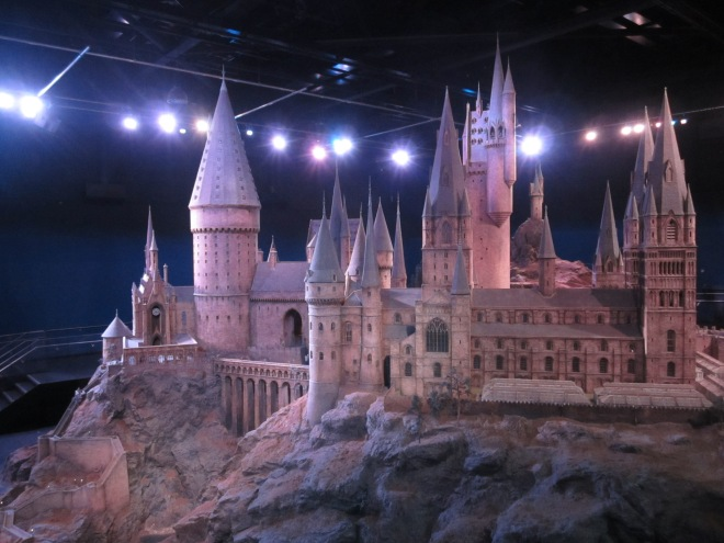 Hogwarts models at Harry Potter Studio Tour