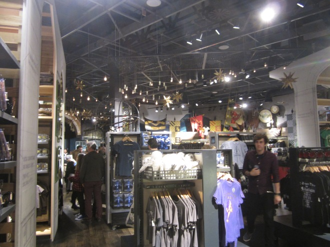 Gift shop at the Harry Potter Studio Tour
