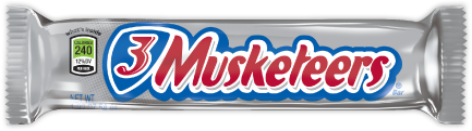 A 3 Musketeers bar